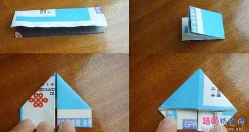 纸菠萝的折法 制作三角插菠萝笔筒手工制作教程