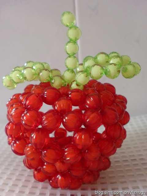 串珠手工工艺品 串珠苹果教程